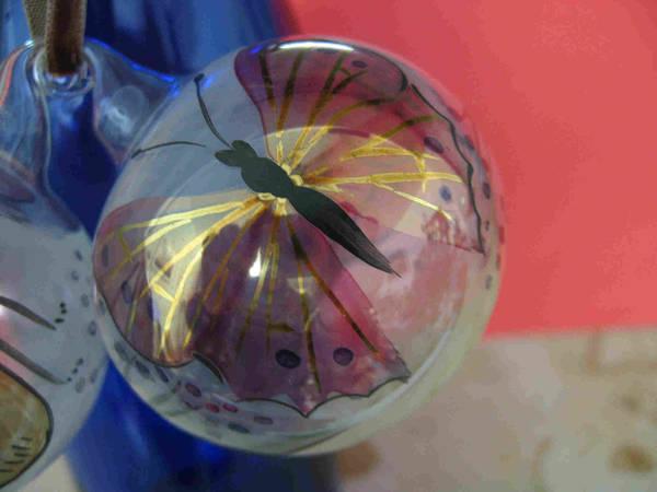 2 handbemalte glaskugeln zum aufh ngen kleinanzeigen aus. Black Bedroom Furniture Sets. Home Design Ideas