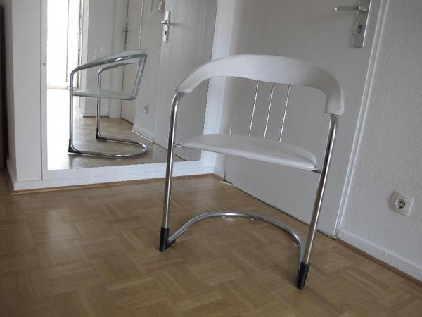 2 italienische st hle leder chrom zu verkaufen in. Black Bedroom Furniture Sets. Home Design Ideas