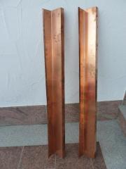 2 Profilbleche Kupfer,