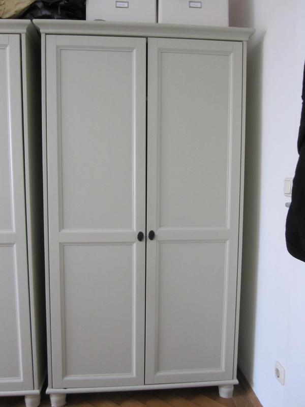 2 st ck ikea kleiderschrank leksvik hellgrau in m nchen schr nke sonstige schlafzimmerm bel. Black Bedroom Furniture Sets. Home Design Ideas