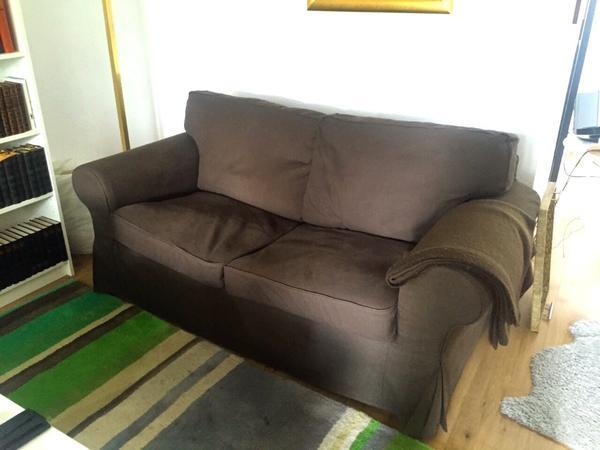 2x ikea ektorp zweisitzer couch dunkelbraun in wiesbaden polster sessel couch kaufen und. Black Bedroom Furniture Sets. Home Design Ideas