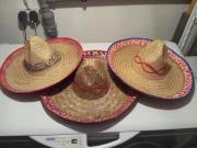 3 Stück Sombrerohut,
