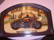 3D Holzbild Harley