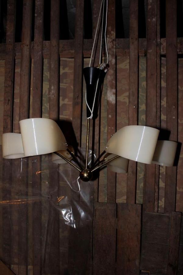 50er jahre 6armige h ngeleuchte in m nchen lampen kaufen und verkaufen ber private kleinanzeigen. Black Bedroom Furniture Sets. Home Design Ideas