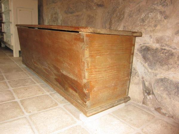 alte antike truhe bank truhenbank shabby chic ca 40 50er jahre massivholz in gernsbach. Black Bedroom Furniture Sets. Home Design Ideas