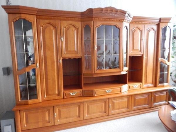 anbauwand rustikal top zustand in leipzig wohnzimmerschr nke anbauw nde kaufen und verkaufen. Black Bedroom Furniture Sets. Home Design Ideas