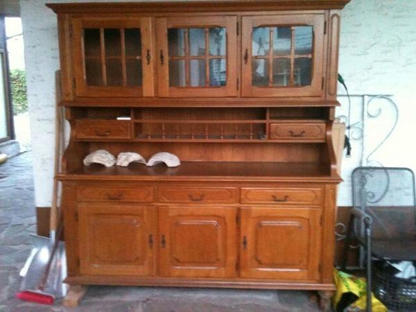Küchenbuffet Alt Gebraucht ~ ich biete hier ein sehr gut erhaltenes vollholz küchenbuffet es wurde von einem tischler um