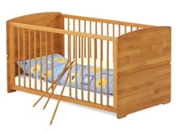 babybett massiv holz buche in m nchen wiegen babybetten reisebetten kaufen und verkaufen. Black Bedroom Furniture Sets. Home Design Ideas