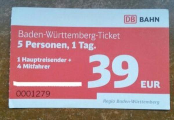 baden-württemberg-ticket single für 19 euro Reutlingen