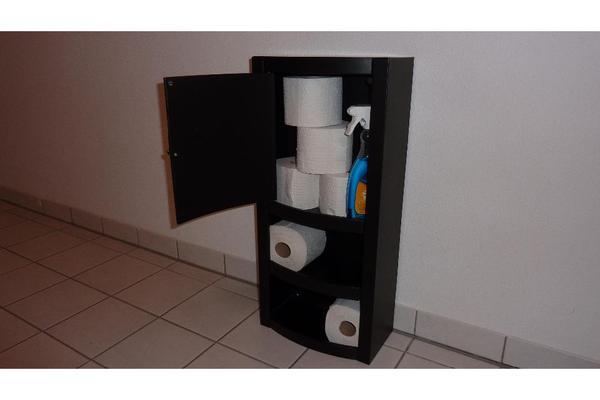 badezimmerschrank badschrank kleines schr nkchen metall schwarz 66x30x17 cm in dachau bad. Black Bedroom Furniture Sets. Home Design Ideas