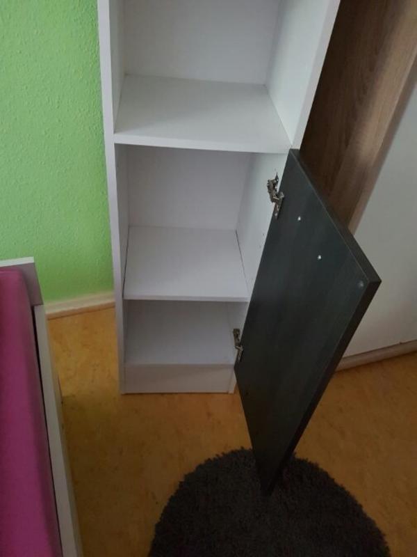 badschrank hochschrank wei anthrazit in worms bad einrichtung und ger te kaufen und. Black Bedroom Furniture Sets. Home Design Ideas