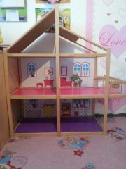 barbiehaus holz kinder baby spielzeug g nstige angebote finden. Black Bedroom Furniture Sets. Home Design Ideas