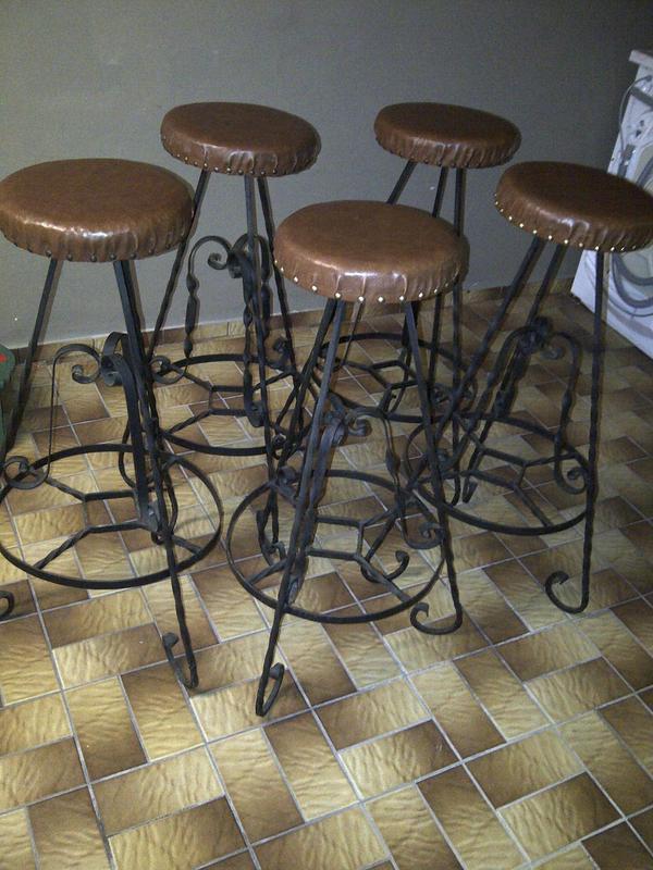 barhocker schmiedeeisen in limburgerhof sonstige m bel antiquarisch kaufen und verkaufen ber. Black Bedroom Furniture Sets. Home Design Ideas