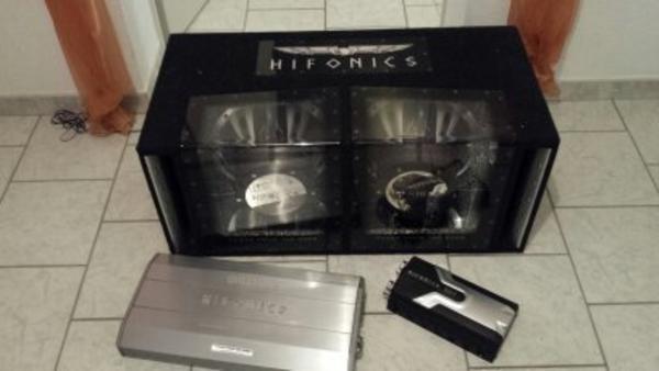 bass box set hifonics subwoofer verst rker kondensator. Black Bedroom Furniture Sets. Home Design Ideas