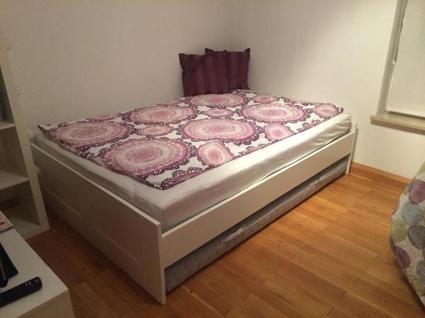 bett brimnes 140 x 200 ikea in m nchen betten kaufen. Black Bedroom Furniture Sets. Home Design Ideas