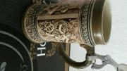 Bierkrug mit Zinndeckel