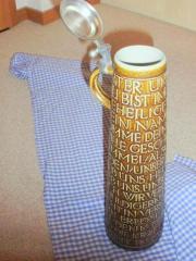 Bierkrug mit Zinndeckel -
