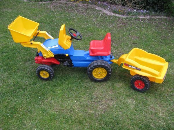 big john traktor mit anh nger. Black Bedroom Furniture Sets. Home Design Ideas