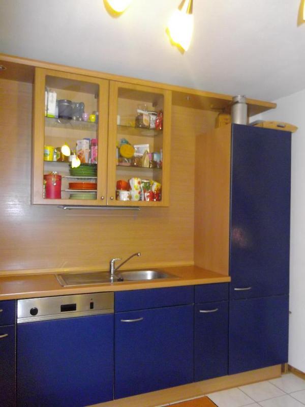 blaue gebr., Nobilia 'Varia' L-Küche, Winkelküche (2,85 x 3,05 m)+ ...