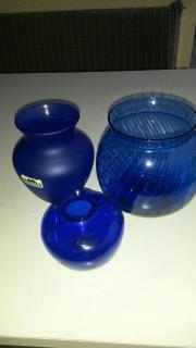 blaue Vasen