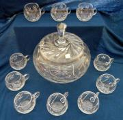 Bleikristall Bowle Set
