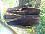 braune Wildleder-Lammfell-