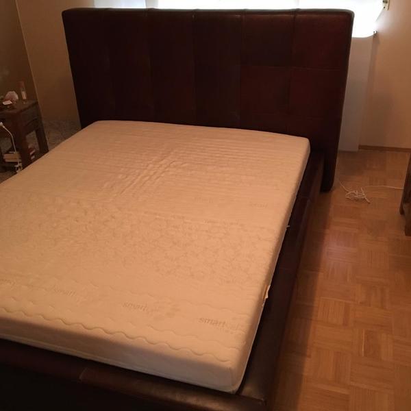 Bett 160 200 kaufen gebraucht und g nstig - Braunes bett ...