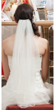 Brautschleier kurzer Schleier
