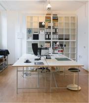 Büroarbeitsplatz in kreativer