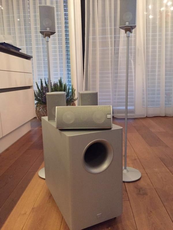 canton movie surroundsystem in koblach boxen. Black Bedroom Furniture Sets. Home Design Ideas