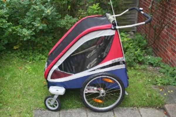 chariot thule fahrradanh nger f r 2 kinder in f rth. Black Bedroom Furniture Sets. Home Design Ideas