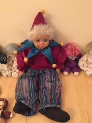 Clown Harlekin Sammelpuppen