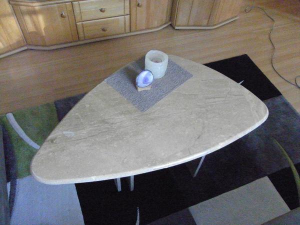 Couchtisch beistelltisch stein alu in m hlacker for Beistelltisch stein