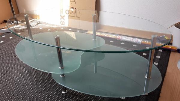 Wohnzimmertisch Gebraucht Wir Verkaufen Unseren Ovalen Couchtisch Glas