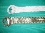 Damengürtel Gold & Weiss