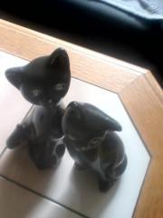 Deko 2 Katzen