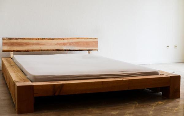 designer bett aus vollholz reine handarbeit in berlin betten kaufen und verkaufen ber. Black Bedroom Furniture Sets. Home Design Ideas
