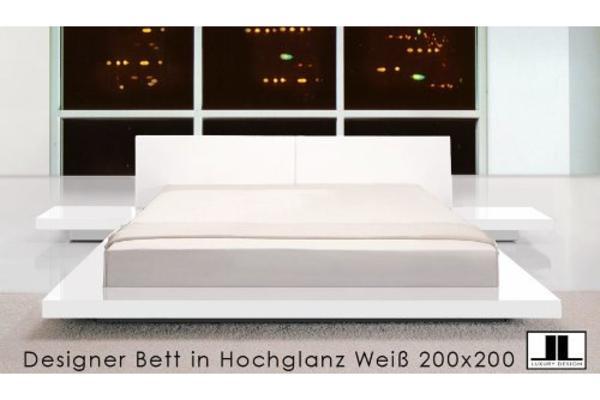designer doppelbett bett hochglanz wei bett schlafzimmer in markt indersdorf betten kaufen. Black Bedroom Furniture Sets. Home Design Ideas