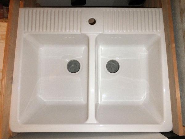 Verkaufe ein keramik doppelspulbecken domsjo von ikea for Doppelspülbecken keramik