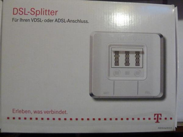 dsl splitter telekom neu in ovp in ludwigsburg df. Black Bedroom Furniture Sets. Home Design Ideas