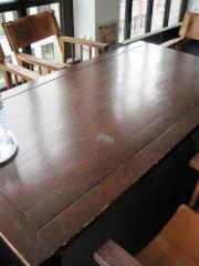 Echtholztisch in dunkelbraun