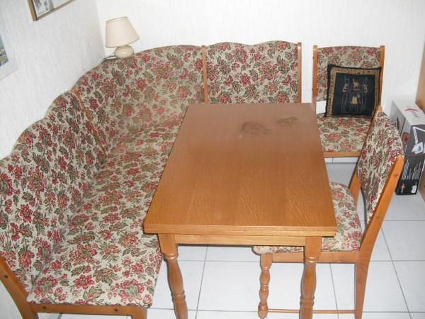 eckbank mit tisch und st hlen in steineberg k chenm bel. Black Bedroom Furniture Sets. Home Design Ideas