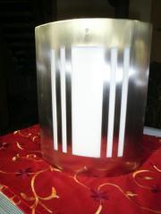 Edelstahl-Wandlampe, modernes
