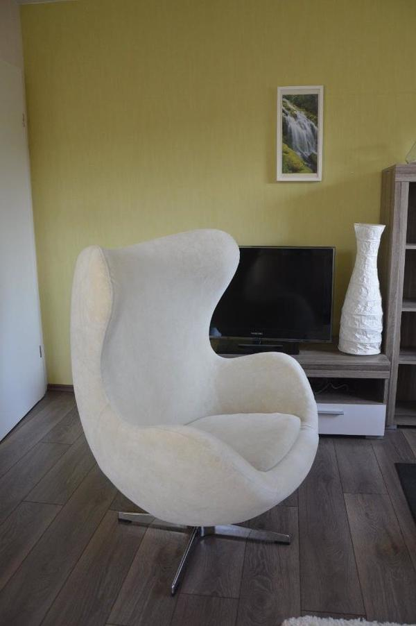egg chair sessel ei sessel weiss creme stuhl in berlin polster sessel couch kaufen und. Black Bedroom Furniture Sets. Home Design Ideas
