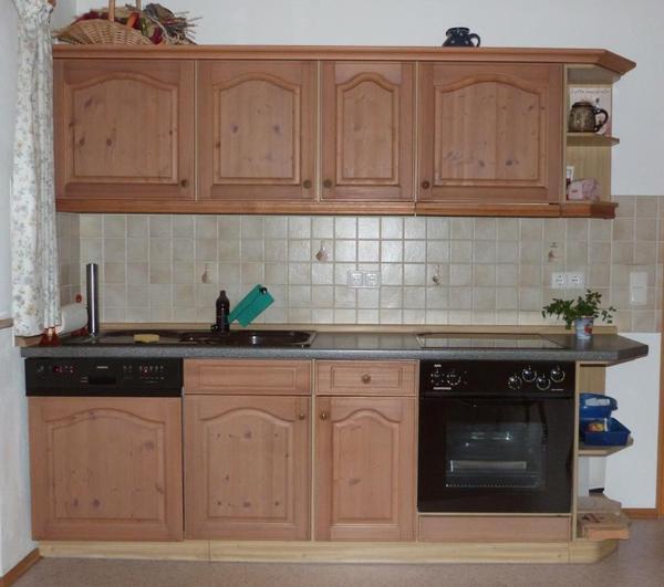 Einbaukuche mit 2 kuchenzeilen und einbaugeraten in oberau for Flachdunstabzugshaube