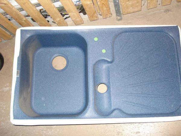 einbausp le granit franke neu in blau in pforzheim. Black Bedroom Furniture Sets. Home Design Ideas