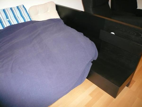 einzelbett typ malm inkl nachtschrank mit schublade in heidelberg betten kaufen und verkaufen. Black Bedroom Furniture Sets. Home Design Ideas