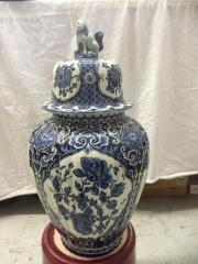 elegante Deckel-Vase