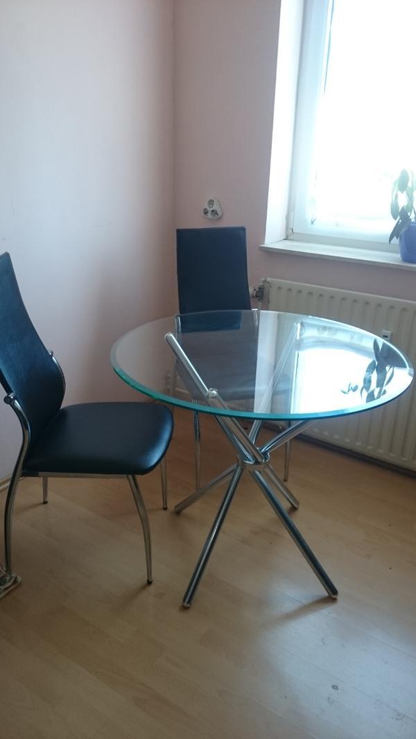 esstisch glas rund kaufen gebraucht und g nstig. Black Bedroom Furniture Sets. Home Design Ideas