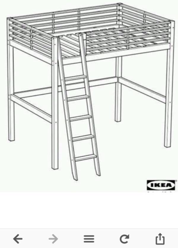 etagenbett ikea aus metall hochbett 140x200 in aying ikea m bel kaufen und verkaufen ber. Black Bedroom Furniture Sets. Home Design Ideas